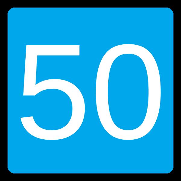 Знак 5.18 Ұсынылатын жылдамдық/ Рекомендуемая скорость
