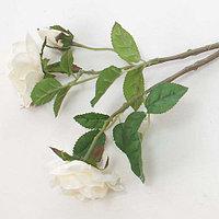 """Цветы искусственные """"Роза"""" три бутона, белая (8см * 50см)"""