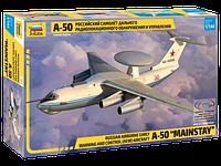 Сборная модель Российский самолет дальнего радиолокационного обнаружения А-50 1\144, фото 1