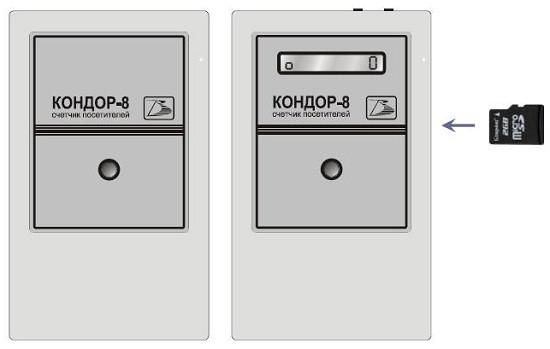 """Перенос данных подсчета из """"Кондор-8"""" в компьютер осуществляется при помощи карты памяти microSD"""