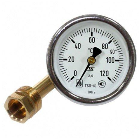 Термометр осевой биметаллический
