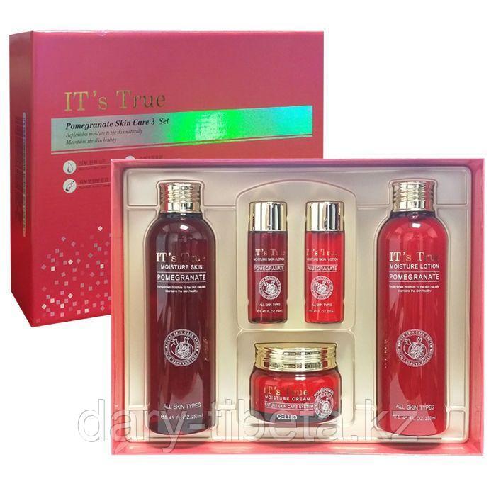 Cellio IT's True Pomegranate Moisture Skin Care 3Set - Набор для ухода за кожей лица