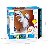 Радиоуправляемый интерактивный динозавр Yearoo E-Robot 88002 из пасти идет пар ,стреляет стрелами