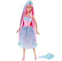 Кукла Барби Dreamtopia с розовыми волосами, фото 1