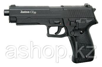 Пистолет для страйкбола ASG Zastava CZ99, Калибр: 6,0 мм, Дульная энергия: 0,9 Дж, Ёмкость магазина (барабана)