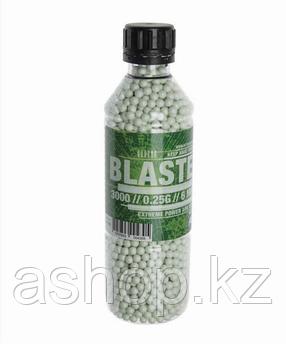 Пластиковые шарики для страйкбольного оружия ASG BB Blaster, Калибр: 6,0, 3000 шт., 0,25 г, Цвет: Белый, Упако