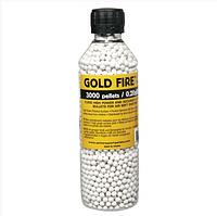 Пластиковые шарики для страйкбольного оружия ASG BB Gold Fire, Калибр: 6,0, 3000 шт., 0,20 г, Цвет: Белый, Упа