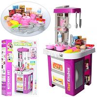 Детская игровая кухня 922-49 с настоящей водой, холодильником, духовкой, свет, звук, 49 предмета, 73 см