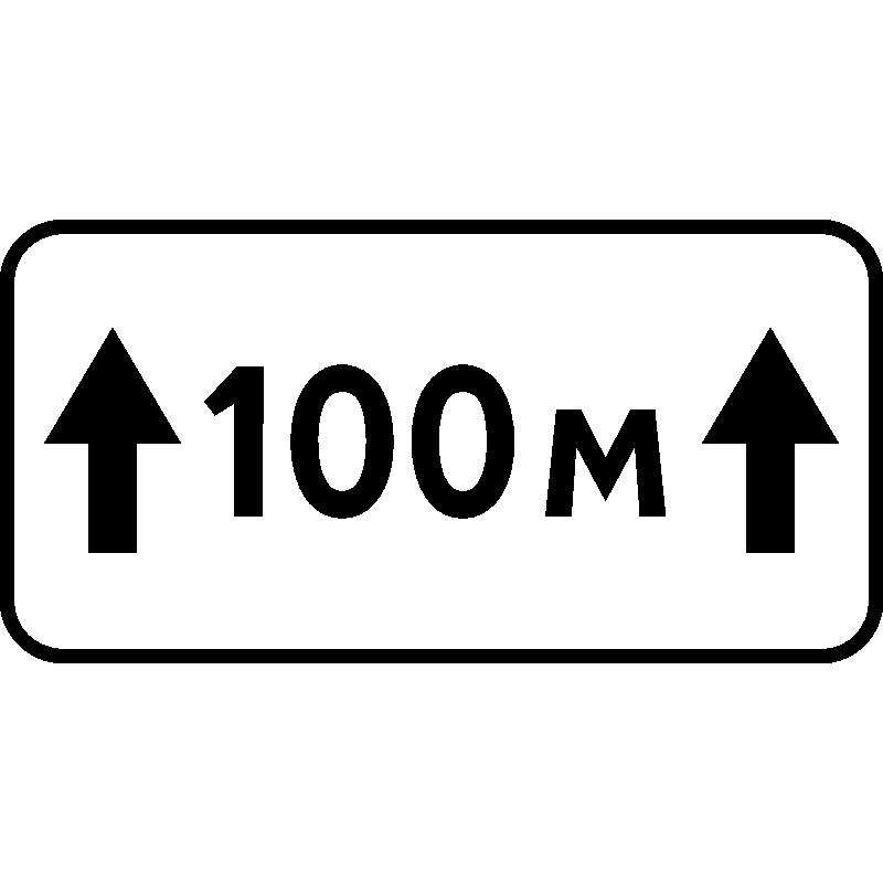 Знаки 7.2.1, 7.2.2, 7.2.3. 7.2.4, 7.2.5, 7.2.6 Зона действия