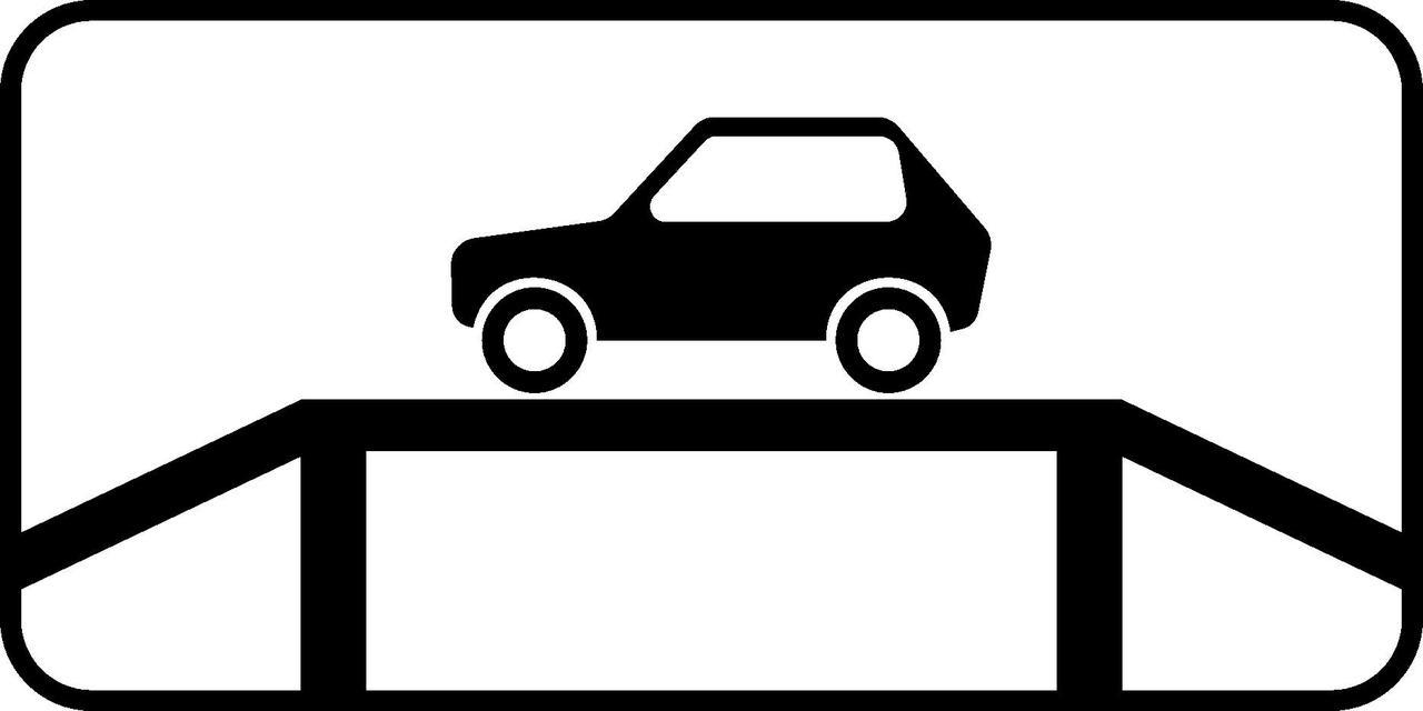 Знак 7.10 Автокөліктерді тексеруге арналған орын/ Место для осмотра автомобилей