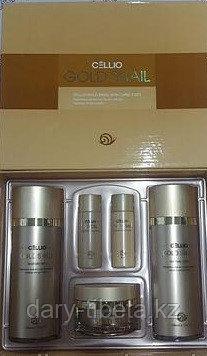 Cellio Gold Snail moisture Skin Care 3Set- Набор для ухода за кожей