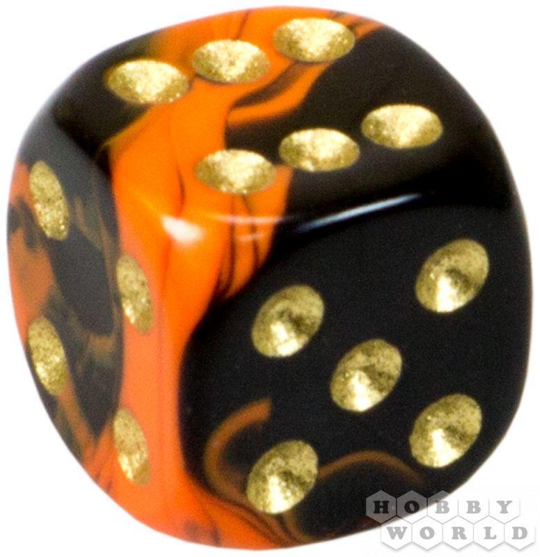 """АКСЕССУАРЫ: Пятнистый кубик """"Dice&Games"""" (драгоценный камень, d6, 15мм): красный"""