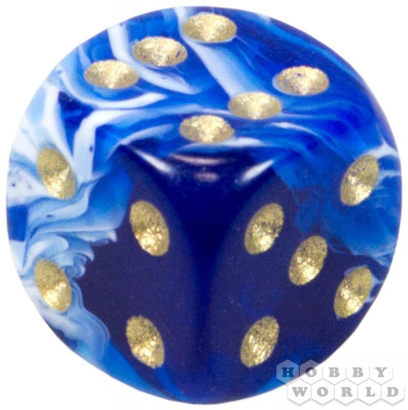 """Пятнистый кубик """"Dice&Games"""" (драгоценный камень, d6, 15мм): водный"""