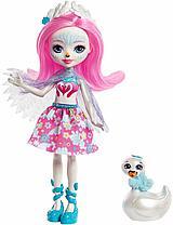 Кукла Enchantimals Саффи лебедь