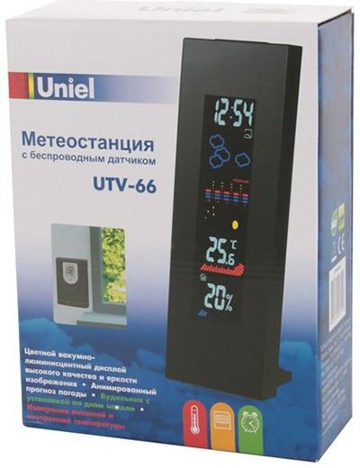 """Метеостанция """"UTV-66 Uniel"""" в упаковке"""