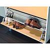 Комплект креплений для 2х откидных обувных полок, пластмасса, белый