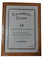 Рамка для сертификата А4, орех