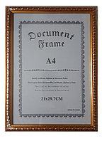 Рамка для сертификата А4, золотые круги