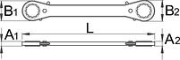 Ключ накидной с храповиком 165, фото 2