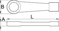 Ключ накидной ударный, для особо тяжёлых работ 184/7, фото 2