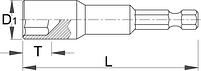 Ключ торцевой с битой 188.10A, фото 2