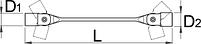 Ключ торцевой с шарнирными головками с внутренним профилем TX 202/1TX, фото 2