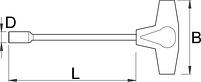 Ключ торцевой шестигранный с Т-образной рукояткой 193N, фото 2
