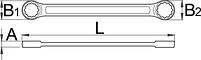 Ключ накидной плоский 182/2A, фото 2