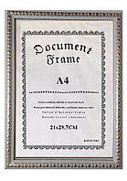 Рамка для сертификата А4, белые круги