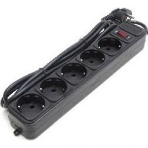 Сетевой фильтр Qmax SPG3-B-15, 5m, 5 розеток, black