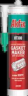 Термостойкий силиконовый клей-герметик, красный, 300°C, 310мл *HT300*