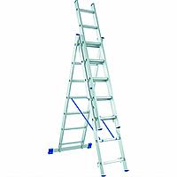 Лестница алюминиевая трехсекционная 3х10
