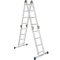 Лестница-трансформер алюминиевая шарнирная 4х5 ступеней