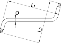 Ключ для масляных пробок 175/2, фото 2