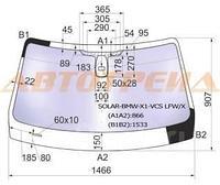 Стекло лобовое атермальное +дд в клей BMW X1 E84 09-15 (Solar-X защита от ультрафиолета)