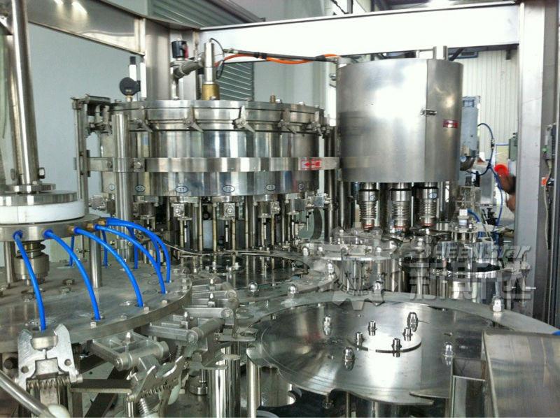 Линия розлива минводы, автомат триблок (ополаскивание, розлив, укупорка) 5 л, 800-1000 бут/час