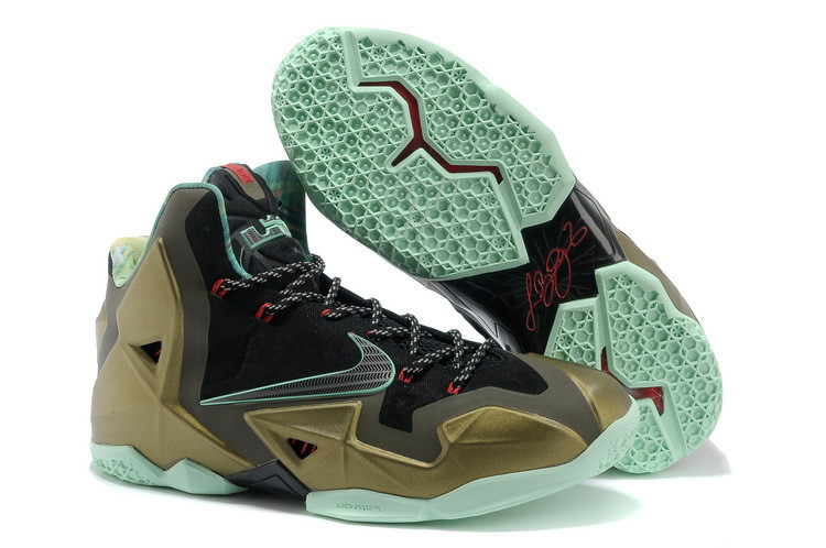 Кроссовки Nike LeBron XI (11) Gold Elite 2014 (40-46)