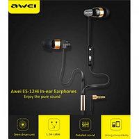 Проводные наушники AWEI ES12Hi (black) с микрофоном и регулятором громкости, фото 1
