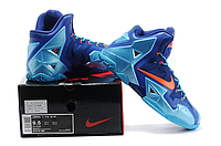 Кроссовки Nike LeBron XI (11) Blue/Orange Elite 2014 (40-46), фото 4