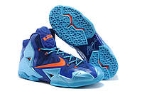 Кроссовки Nike LeBron XI (11) Blue/Orange Elite 2014 (40-46)