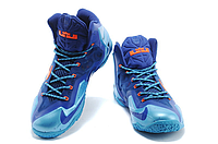 Кроссовки Nike LeBron XI (11) Blue/Orange Elite 2014 (40-46), фото 2