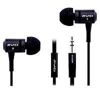 Проводные наушники AWEI ES100m (black) с микрофоном, фото 1