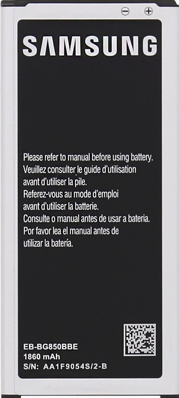 Заводской аккумулятор для Samsung Galaxy Alpha G850F (EB-BG850BBC, 1860 mah)