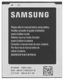 Заводской аккумулятор для Samsung Galaxy Star Advance Dual G350 (B150AE, 1800 mah)