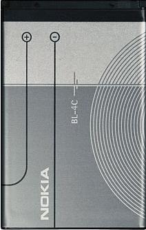 Заводской аккумулятор для Nokia 1202 (BL-4C, 890mah)