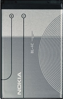 Заводской аккумулятор для Nokia 6301 (BL-4C, 890mah)