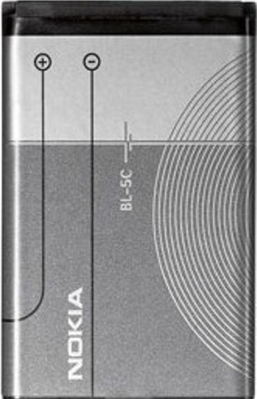 Заводской аккумулятор для Nokia 1202 (BL-5C, 1020mah)