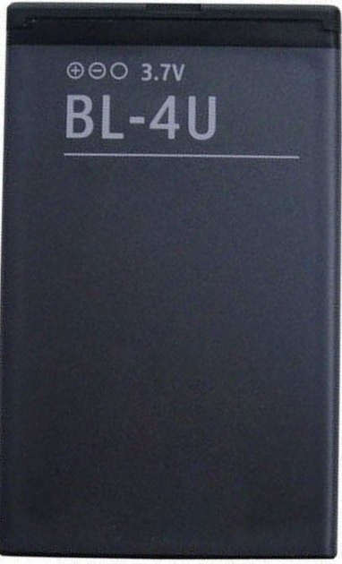 Заводской аккумулятор для Nokia Asha 306 (BL-4U, 1000mah)