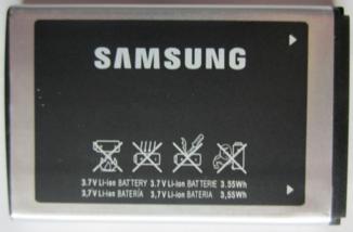 Заводской аккумулятор для Samsung C3322/C3200 (AB463651BU, 960 mah)
