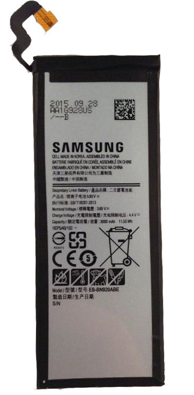 Заводской аккумулятор для Samsung Galaxy Note 5 N920 (AA1G713US, 3000mah)